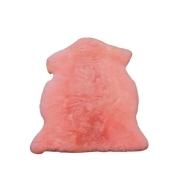 Pelego de Carneiro(Ovelha) com Lã Natural Aprox. 0,62X0,80m Rosa