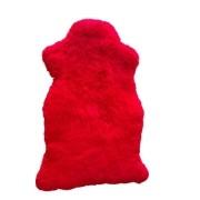 Pelego de Carneiro(Ovelha) com Lã Natural Aprox. 0,85x1,15m Vermelho