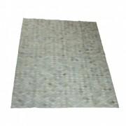 Tapete de Couro de Boi Quadriculado 1,80x1,50m Branco