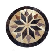 Tapete de Couro Mandala Mandala Tons de Marrom Escuro c/ Caramelo