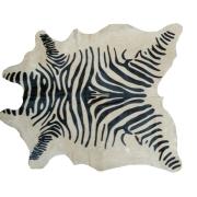 Tapete de Couro  Natural 1,60x1,42m  Serigrafado Zebra c/Fundo Bege