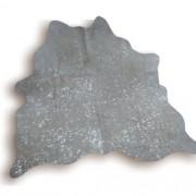Tapete de Couro Natural 1.70X1.40m Devorê Prata