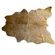 Tapete de Couro Natural 1.80X1.40m Devorê ouro