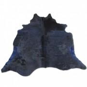 Tapete de Couro Natural 1,85x1,95m Azul Escuro