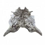 Tapete de Couro Natural 2,35x2,15m Tons de Marrom