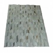 Tapete de Couro Quadriculado 1,15x1,60m Gris