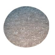 Tapete de Couro Quadriculado 1,20 diam Cinza Esverdeado c/ Devore Prata