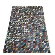 Tapete de Couro Quadriculado 1,30x1,90m Colorido