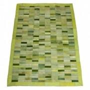 Tapete de Couro Quadriculado 1,50x1,00m Tons de Verde