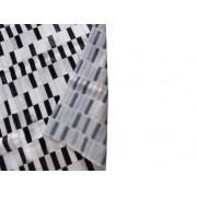 Tapete de Couro  Quadriculado 1,50x2,00m Preto, Cinza e Branco