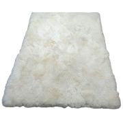 Tapete de Lã Natural de Ovelha (Carneiro) 1,55x2,05m Branco