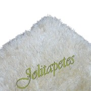 Tapete Importado de Luxo Premium 1,40x2,00m Branco Areia