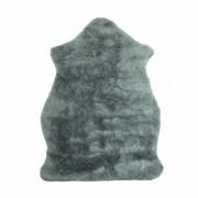 Tapete Importado Sintético 0,70x1,10m Cinza em formato Pelego