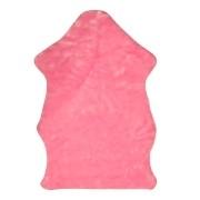 Tapete Importado Sintetico 0,75x1,20m Rosa formato Pelego c/Antiderrapante