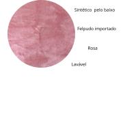 Tapete Importado Sintetico 1,50x1,80m Rosa formato 6 peles