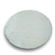 Tapete Importado Sintetico Branco 1,50 diam Redondo c/ Antiderrapante