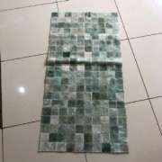 Tapete Trilho de Couro Quadriculado 0,50x1,00m Verde