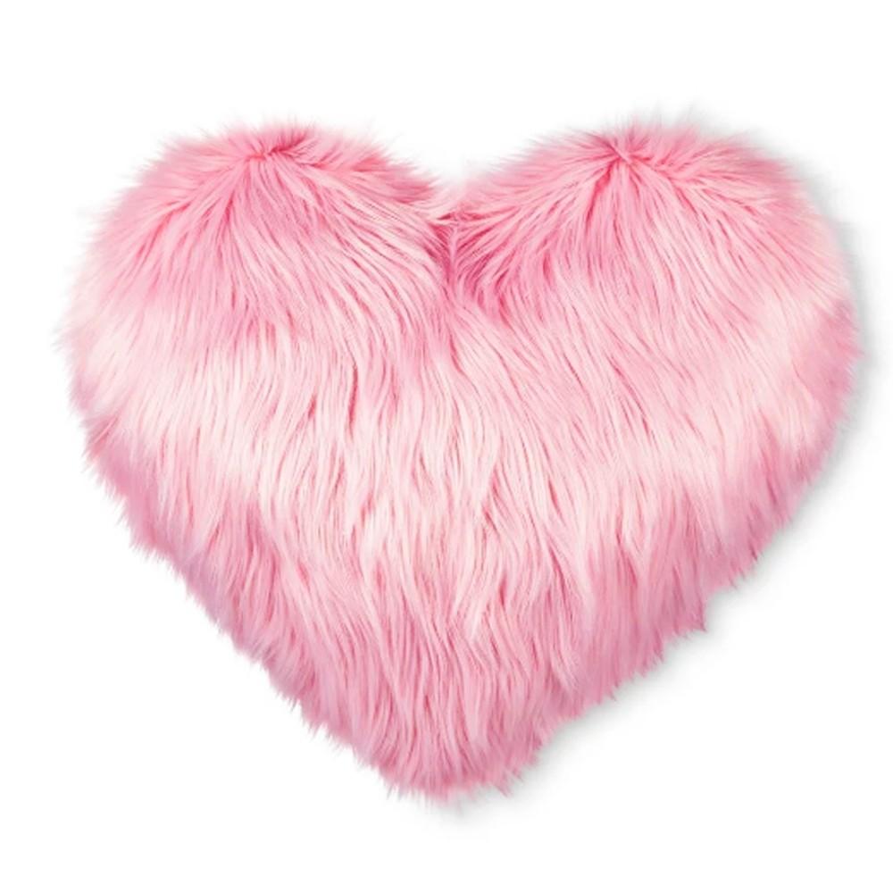 Almofada Importada Sintetica 40x40cm Rosa Coração