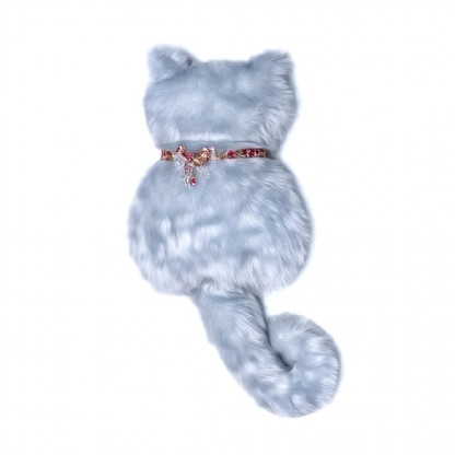Gato de Pelúcia Infantil 0,30x0,60m Azul