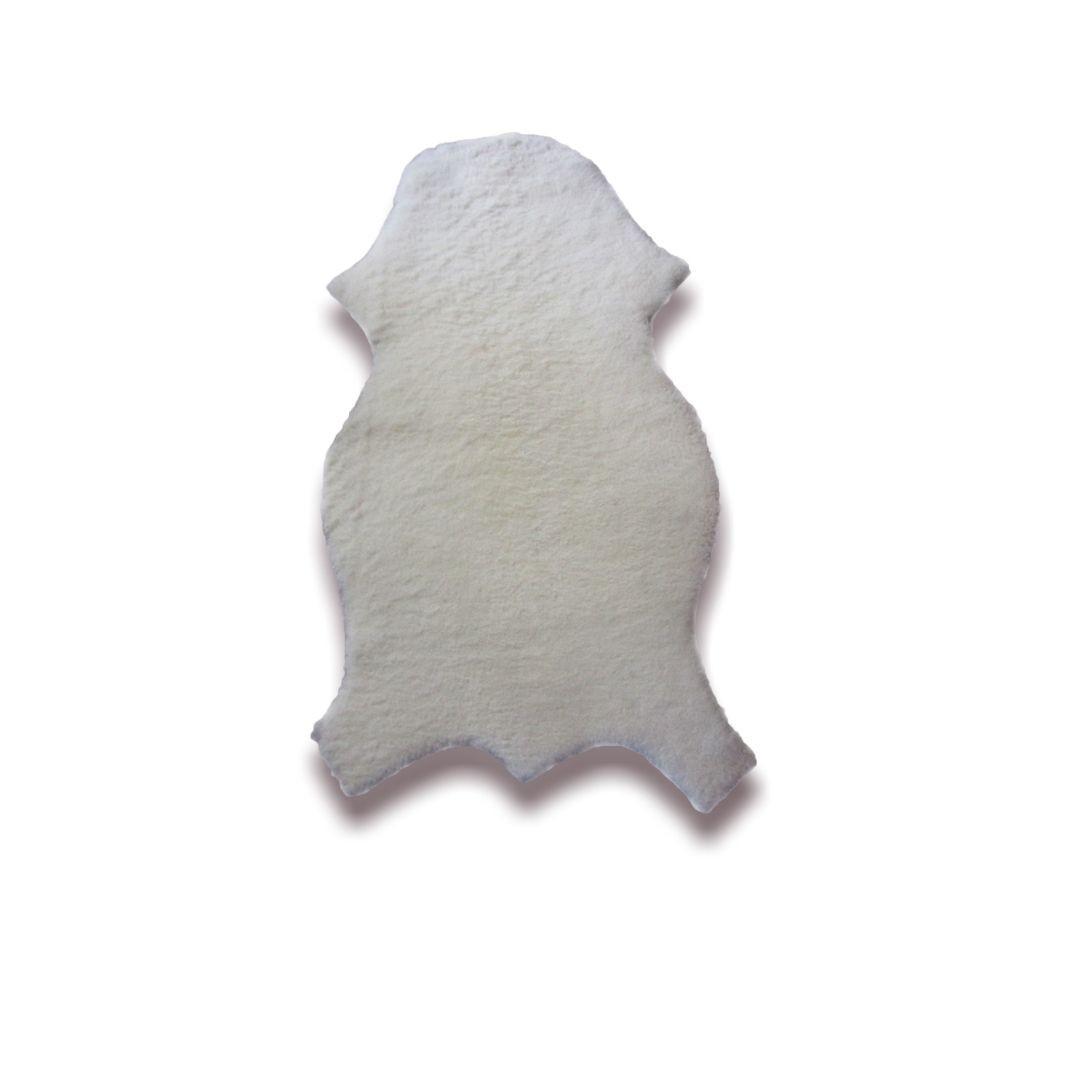 Pelego de Carneiro(Ovelha) com Lã Natural 0,55x0,65m Tosado Infantil