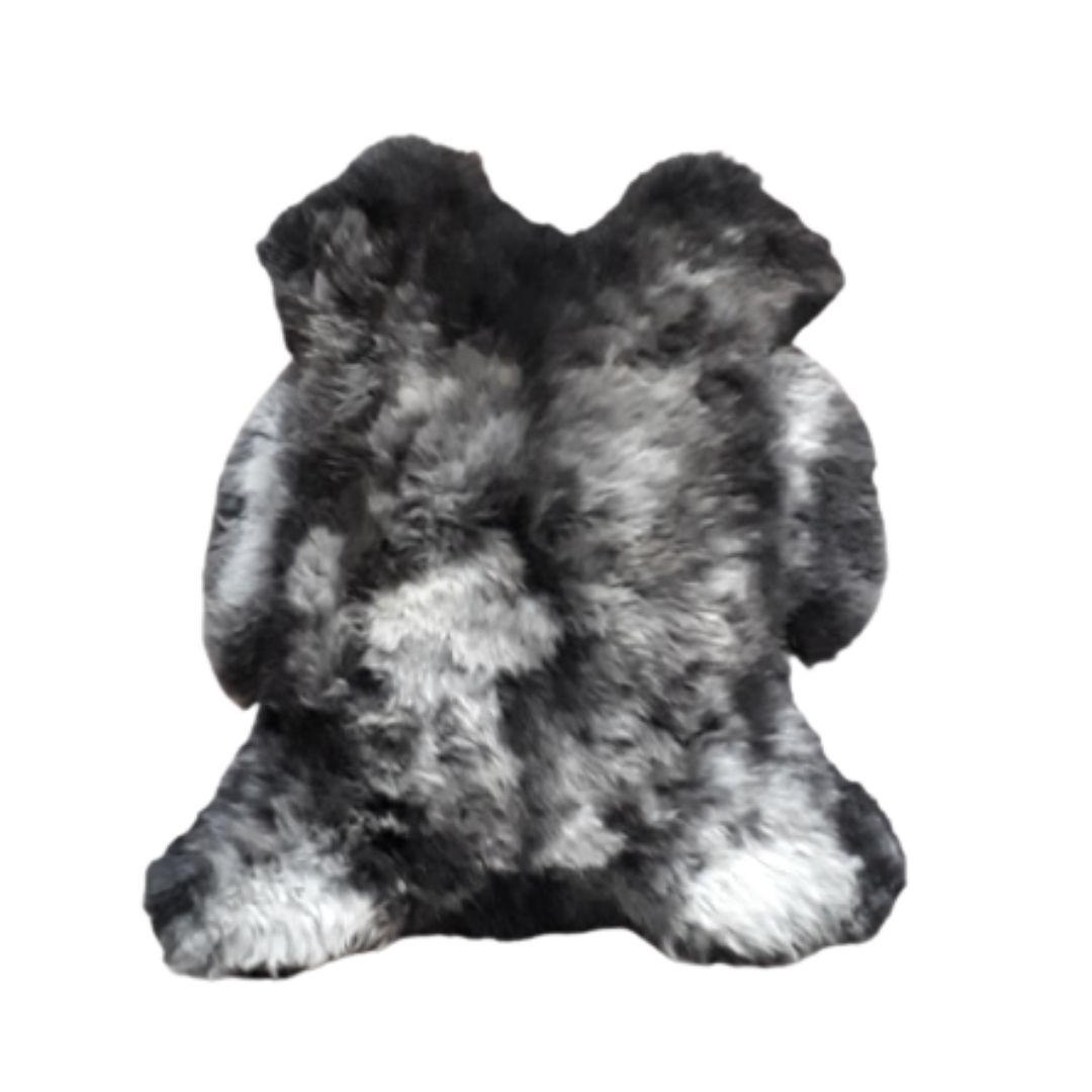 Pelego de Carneiro(Ovelha) com Lã Natural Aprox. 0,55x0,80 Cinza Claro