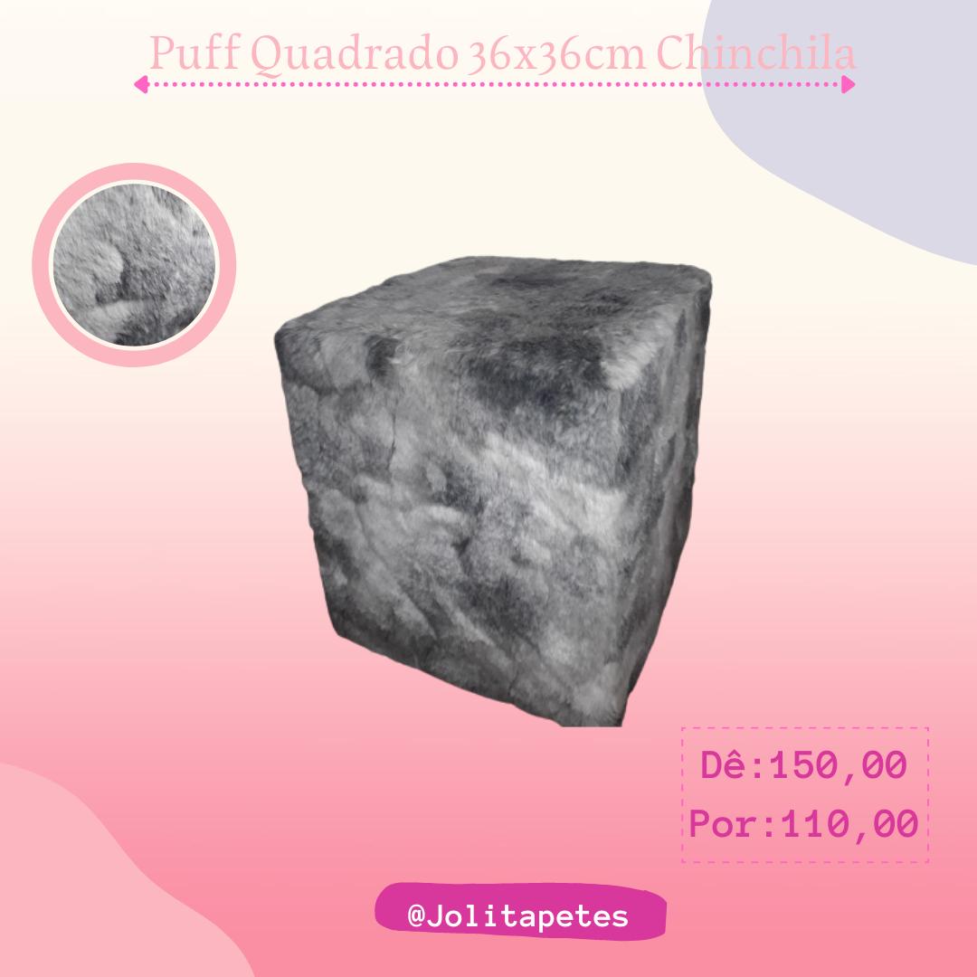 Puff Quadrado 36x36cm Chinchila