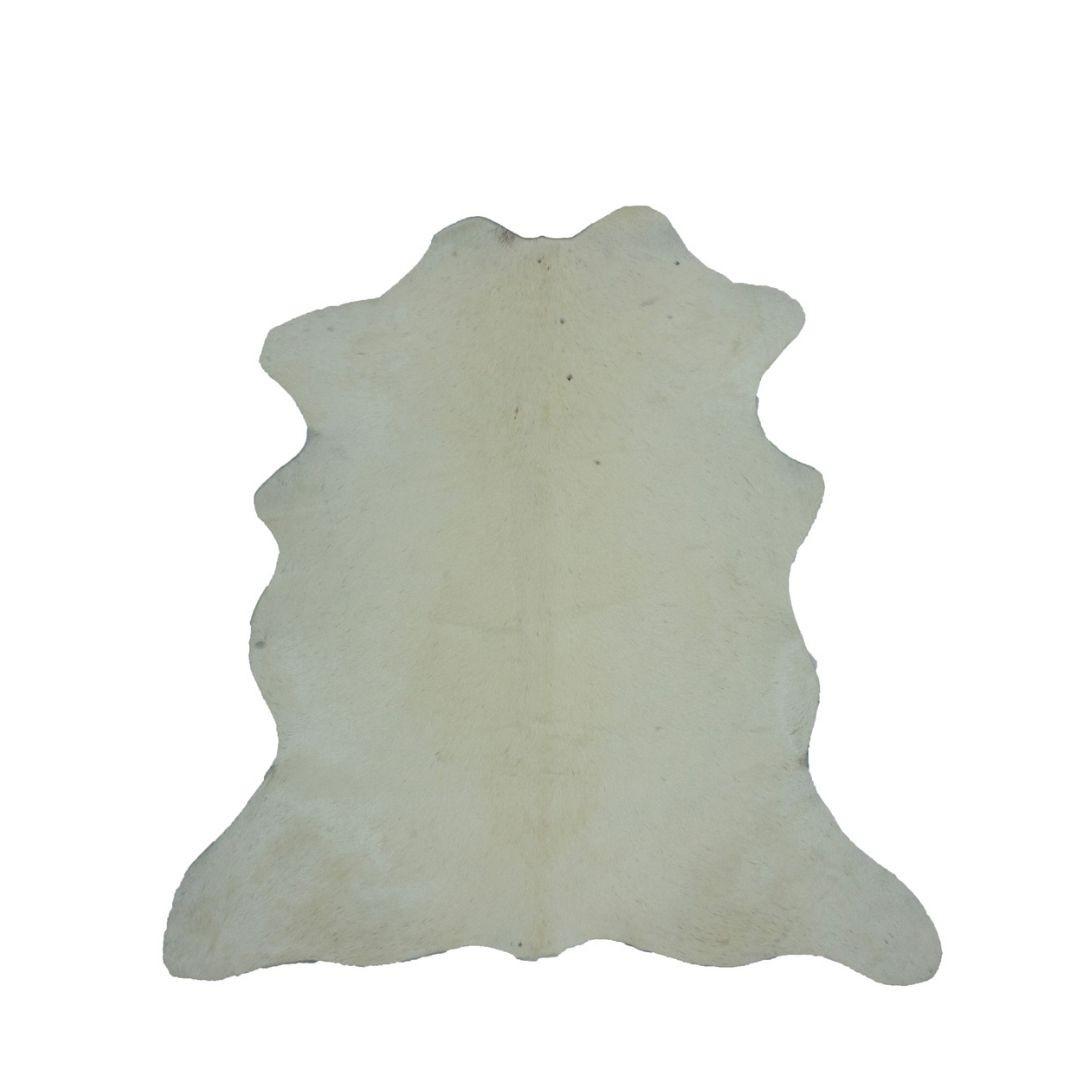Tapete de Couro Natural 0,70x0,70m Branco