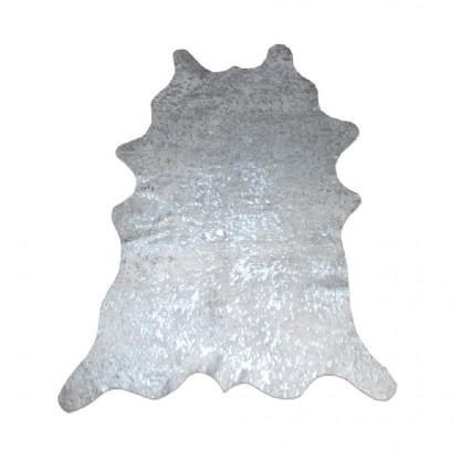 Tapete de Couro Natural 1,00x1,45m Silver Devorê