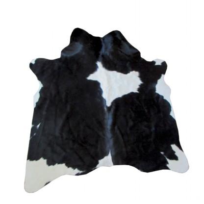 Tapete de Couro Natural 1,40x1,75m Preto e Branco