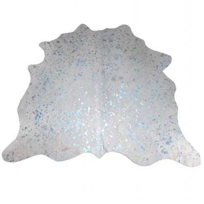 Tapete de Couro  Natural 1,45x1,20m Azul Devorê