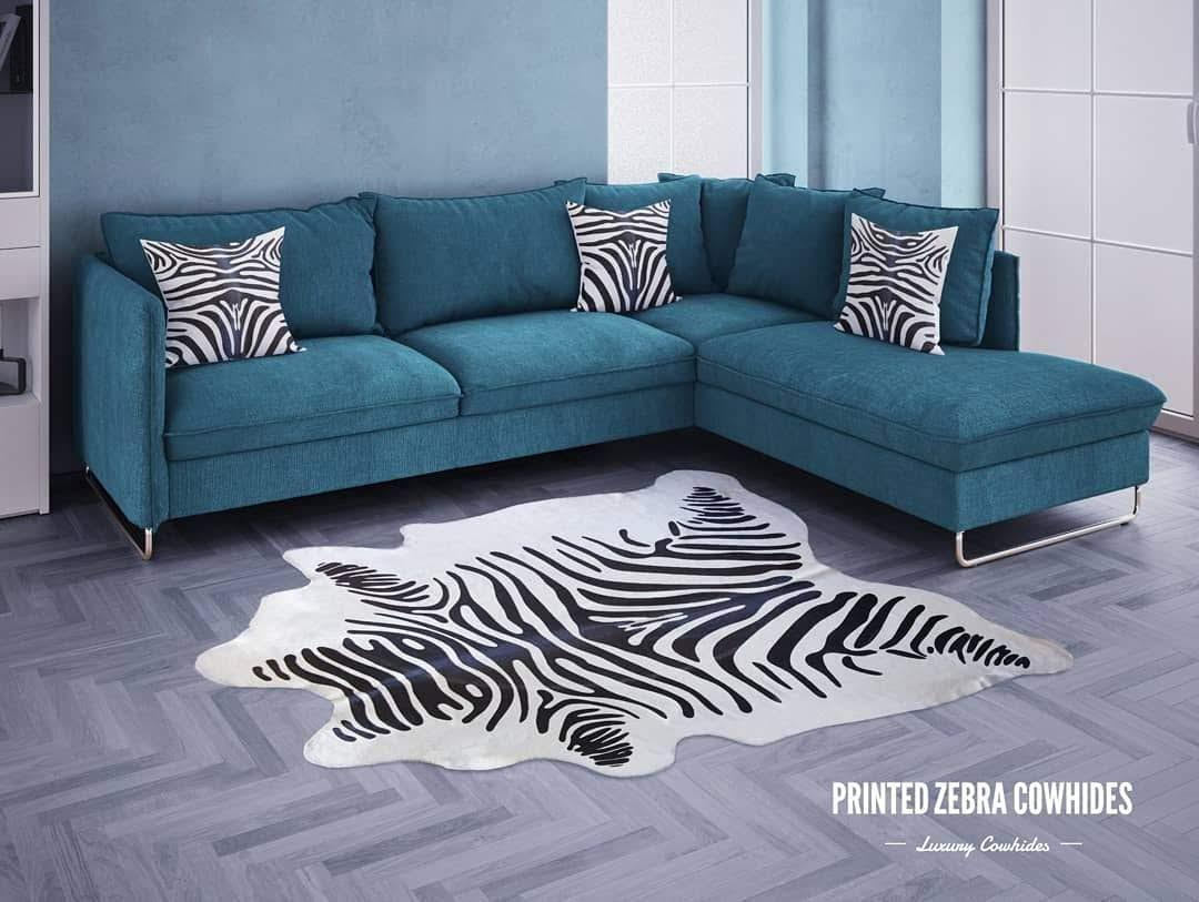 Tapete de Couro Natural 1,65X1,75m Serigrafado Tigre