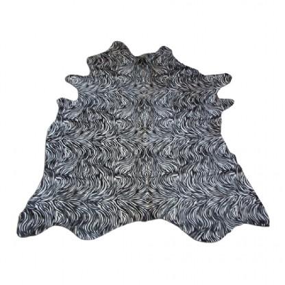Tapete de Couro  Natural 1,80x1,80m Serigrafado Tigre