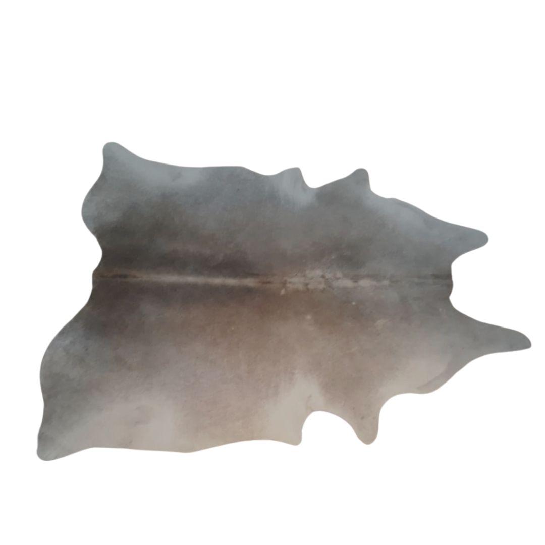 Tapete de Couro Natural  2,00X1,80 Tons de Marrom Claro