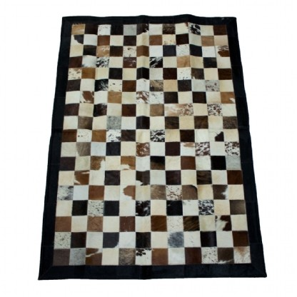 Tapete de Couro Quadriculado 1,00x1,50m Tricolor