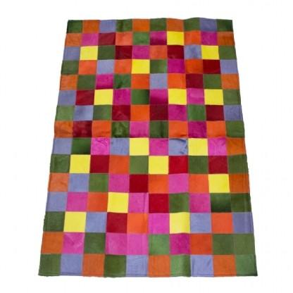 Tapete de Couro Quadriculado 1,20X1,90m Colorido