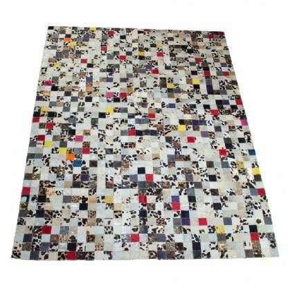 Tapete de Couro Quadriculado 1,45x2,00m Colorido