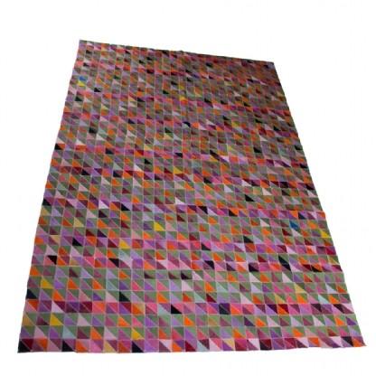 Tapete de Couro Quadriculado 1,90x2,80m Colorido