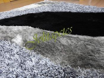 Tapete Importado Premium  1,60x2,30m Cinza Escuro c/Listras