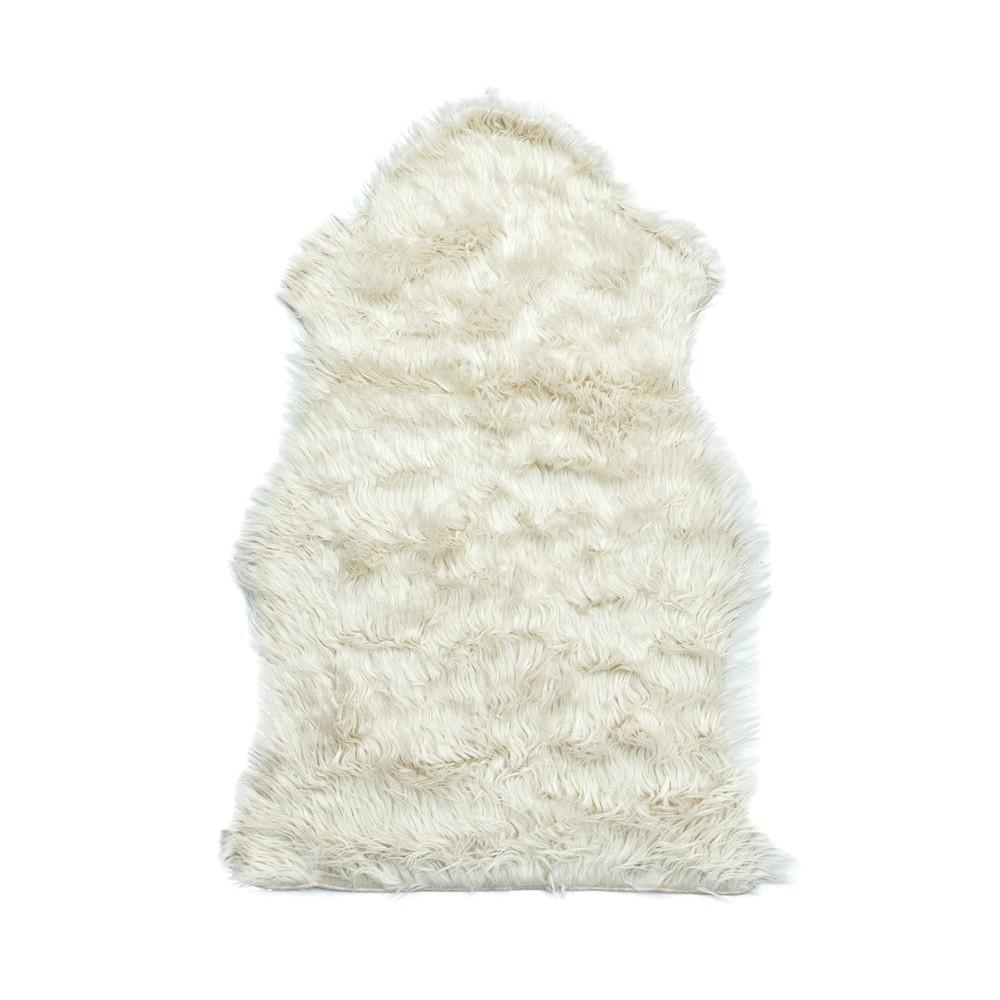 Tapete Importado Sintetico 0,50x0,80m Branco formato Pelego