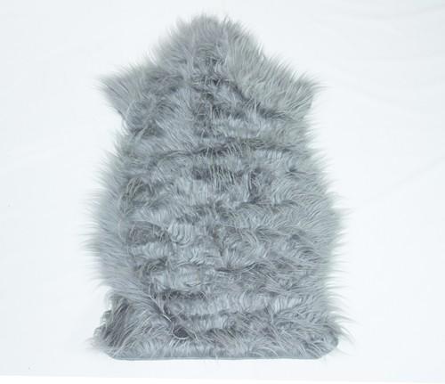 Tapete Importado Sintético 0,50X0,85m Cinza em formato Pelego
