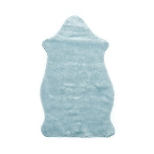 Tapete Importado Sintetico  0,70X1,10m Azul formato Pelego