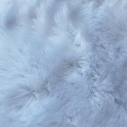 Tapete Importado Sintetico 0,70x1,20m Azul formato Pelego c/Antiderrapante