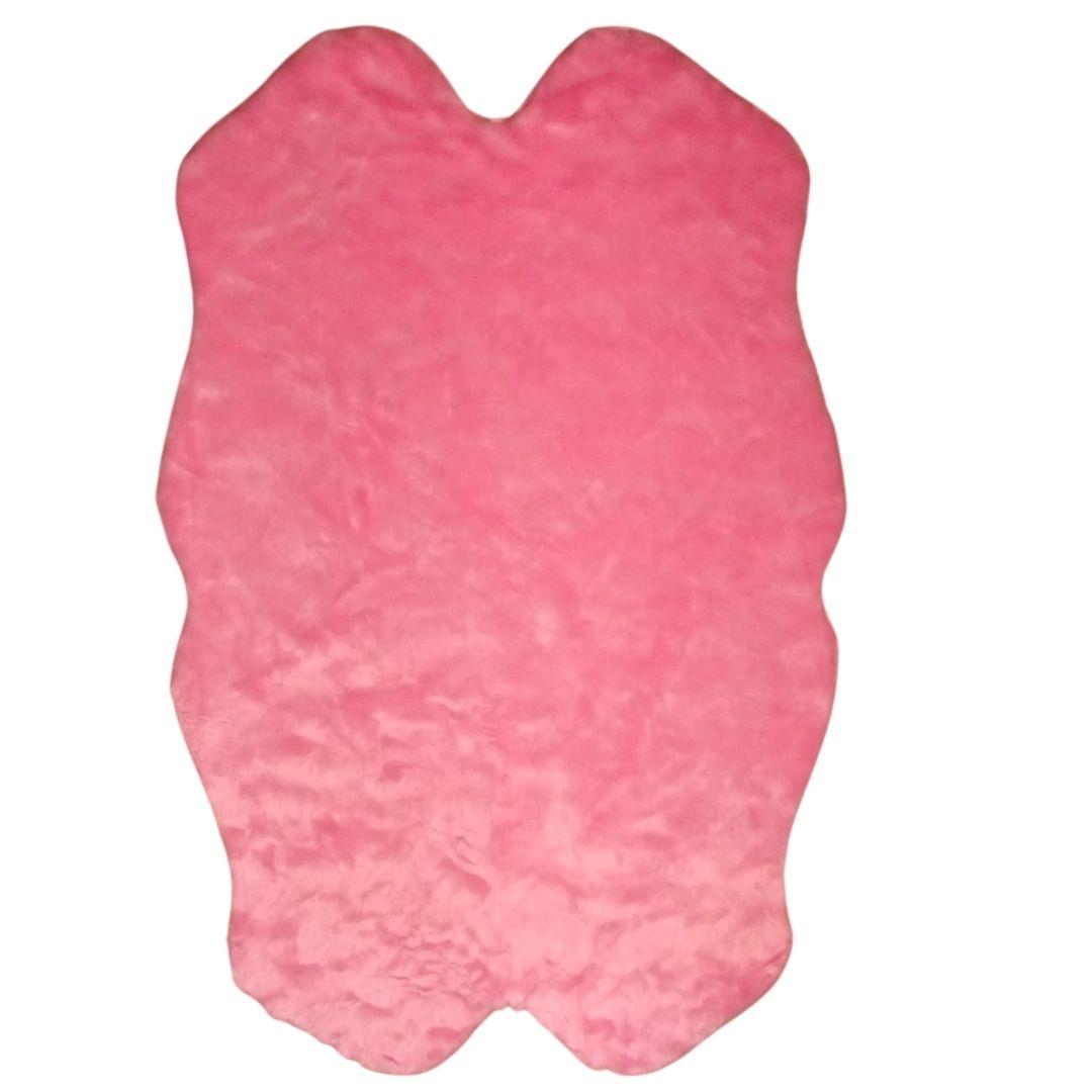 Tapete Importado Sintetico 0,90x1,50m Rosa formato 4 peles