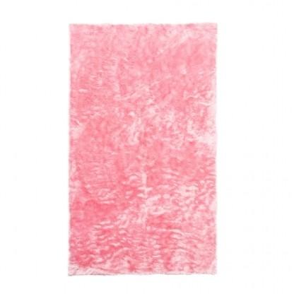 Tapete Importado Sintetico 0,95x1,45m Rosa c/Antiderrapante