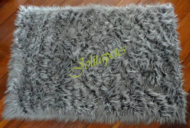 Tapete Importado Sintetico 1,00X1,50m Cinza