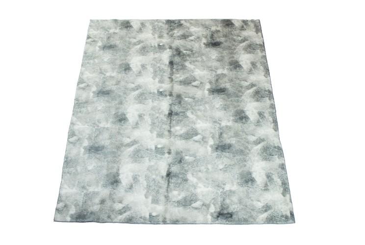 Tapete Importado Sintetico 1,20x1,50m Cinza e Branco