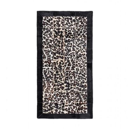 Tapete Trilho de Couro  Quadriculado 0,50x0,90m Serigrafado Onça