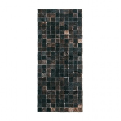 Tapete Trilho de Couro Quadriculado 0,50x1,15m Tons de Marrom