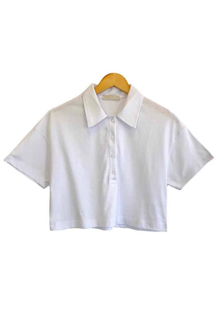 Blusa Feminina Cropped LIA Branca