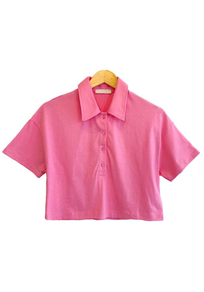 Blusa Feminina Cropped LIA Rosa